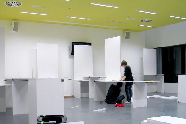 SYSboard, Messebau, Trennwandsystem, leicht, recycelbar, Studio Hartensteiner, Designbüro Leipzig