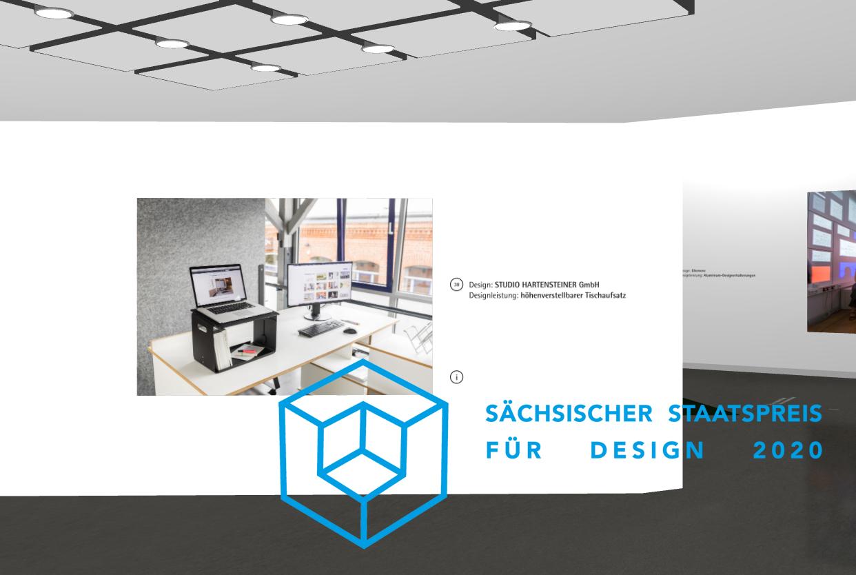 ergonomischer Schreibtischaufsatz für das Homeoffice Sächsischer Staatspreis für Design 2020