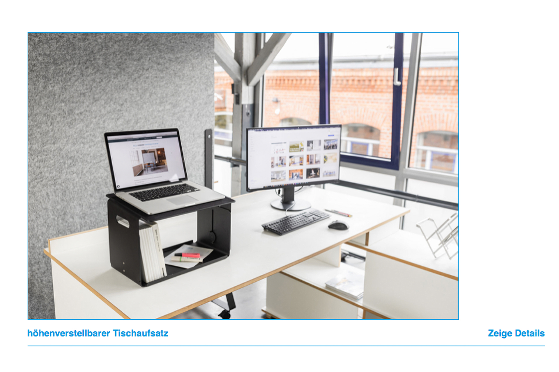 Der ergonomische Schreibtischaufsatz für das Stehenarbeiten